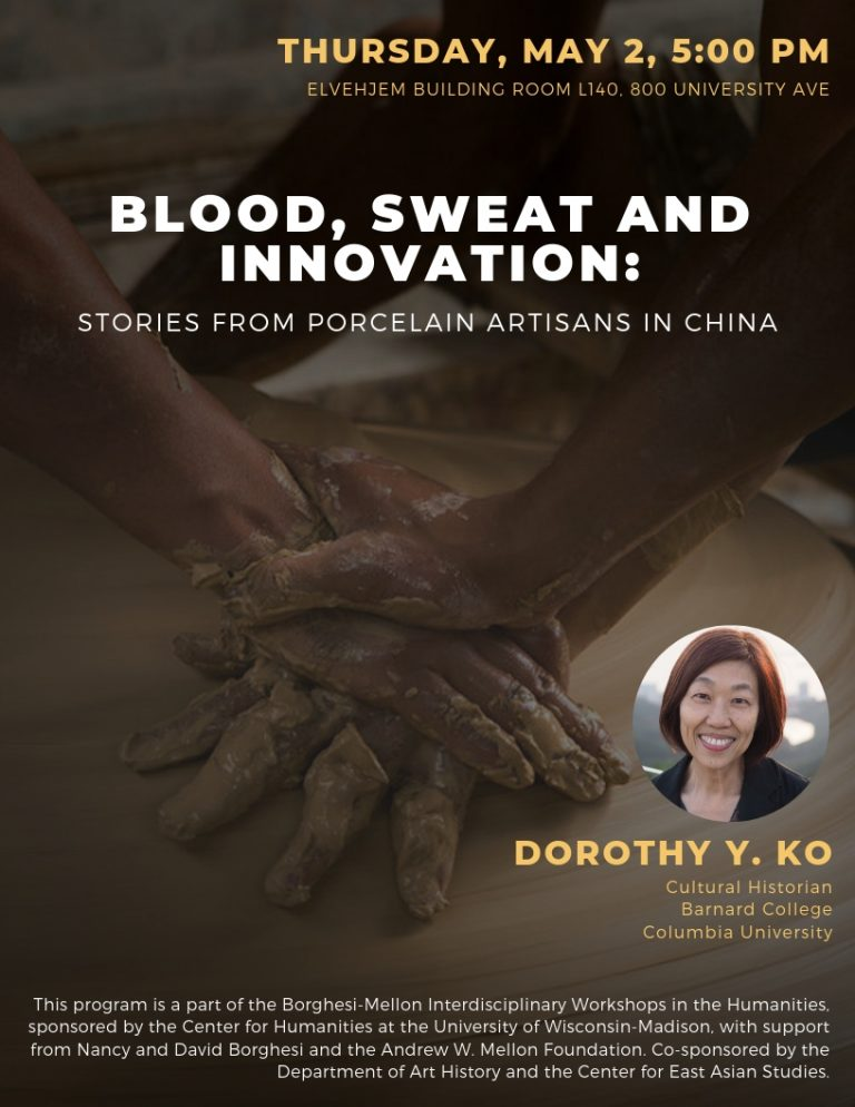 Photo of Dorothy Ko lecture poster