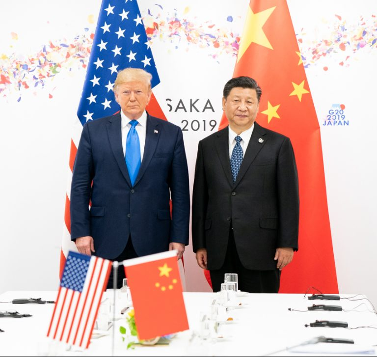 Photo of President Trump and President Xi Jingping