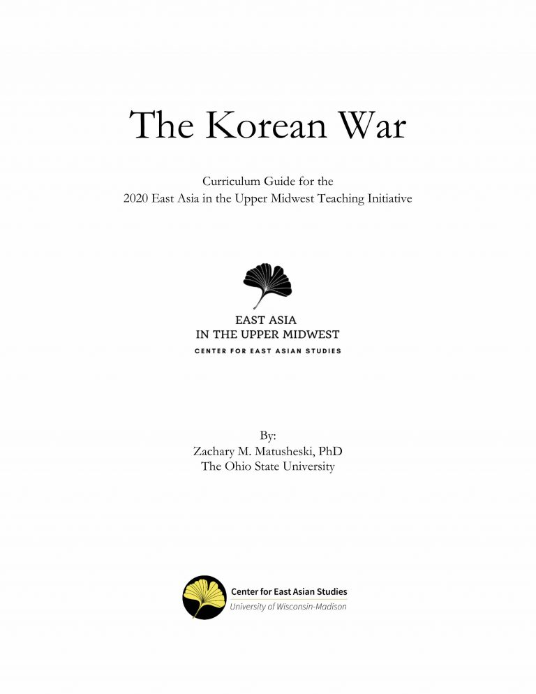 Cover of teaching guide for the Korean War