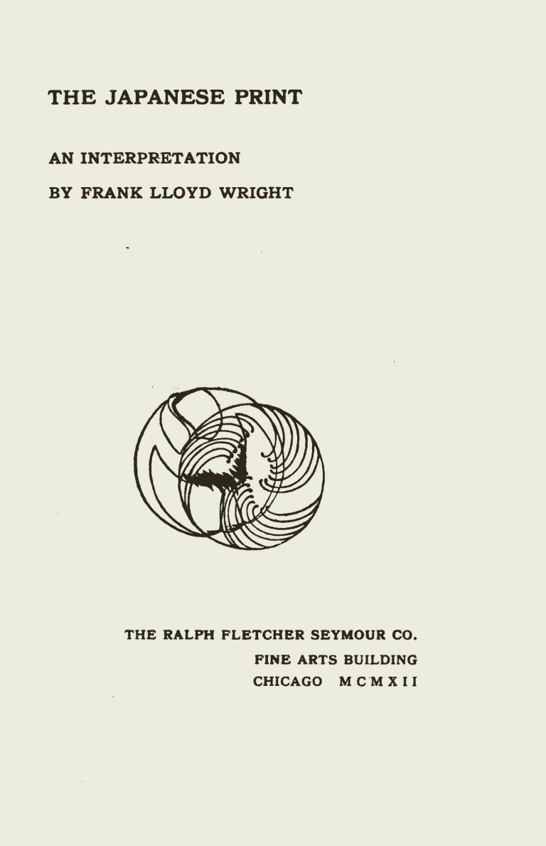 Cover of the book The Japanese Print by Frank Lloyd Wright
